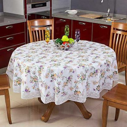 All White Pvc Round Table Covers