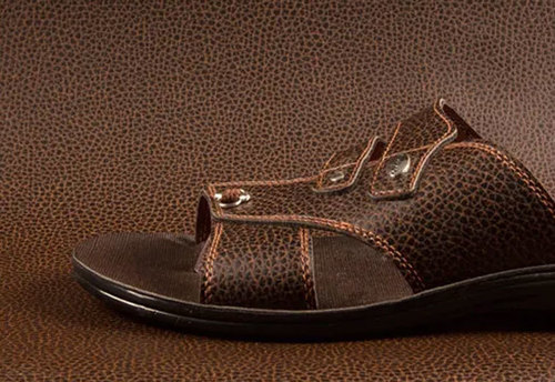 Mens Leather Brown Sandals