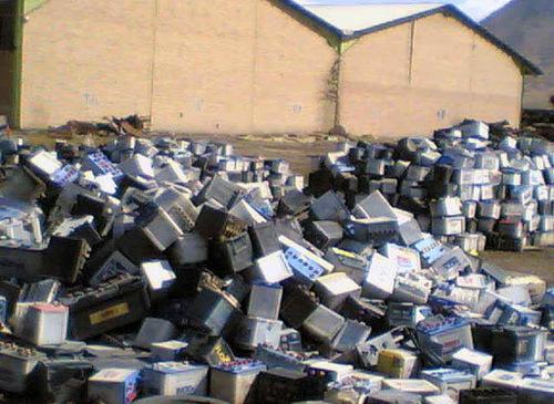 Drained Lead Car Battery Scraps