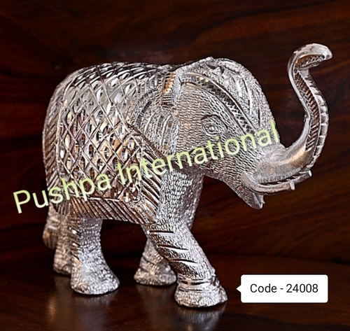 Finely Finished Silver Elephant