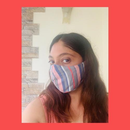 Black White Anti Pollution Reusable Face Mask