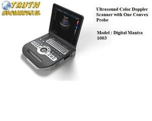 Ultrasound Color Doppler Scanner with One Convex Probe