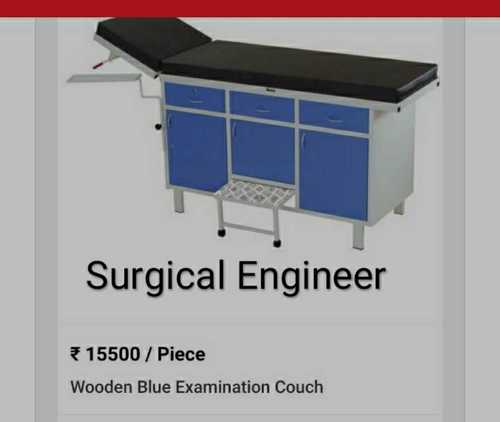 Wooden Blue Examination Couch
