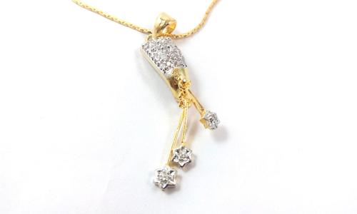 American Diamond Pendant With Chain