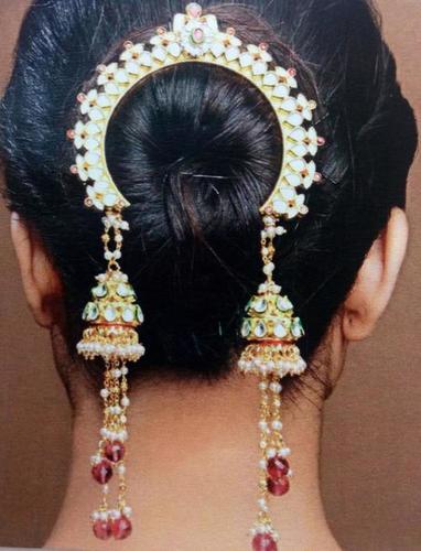 Designer Ladies Juda Hair Clips Material: Metal