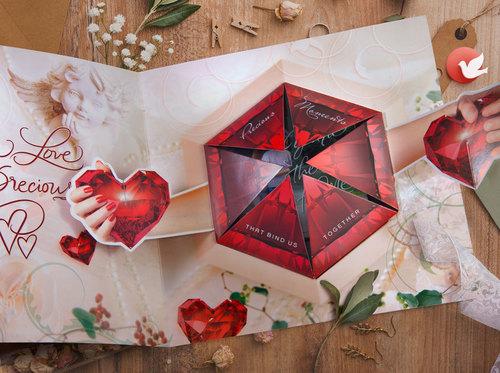 3D Premium Valentines Day Card Love Is Precious