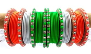 Tricolor Independence Day Special Bangles Set