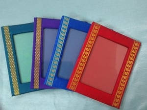 Small Size Lace Fabric Photo Frame