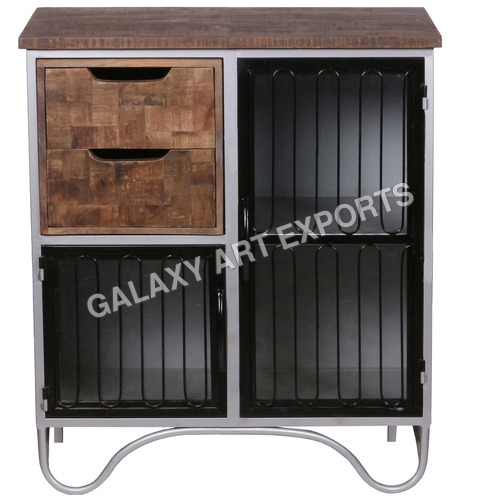 2-Door 2-Drawer Cabinet With Rails