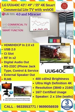 Commercial Display With AV Control system