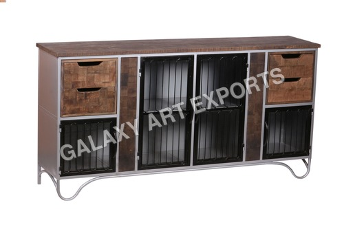 Finely Finished Sideboard With Rails