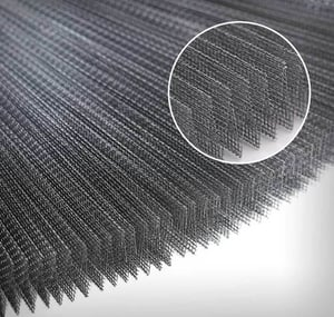 Pleated Mesh For Insect Screen