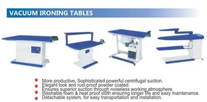 CleanCare Vacuum Finishing Table with Hand Iron Complete Set