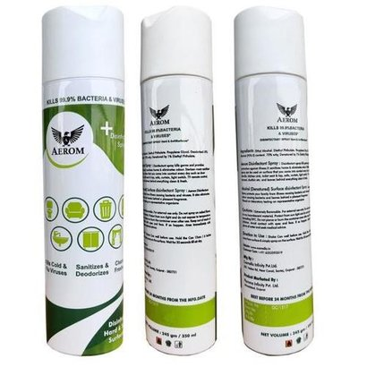 100% Safe Surface Disinfectant Spray Certifications: Lic.No.Gc/1517