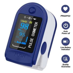 FingerClip PUSH Pulse Oximeter With Carrying Case