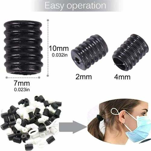 Mask Cord Lock Rubber Stopper