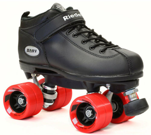 Riedell Dart Quad Roller Derby Speed Skates Black With Red Wheels Certifications: Ce