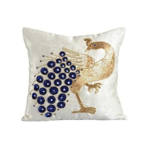 Embroidery Sequin Cushion Cover