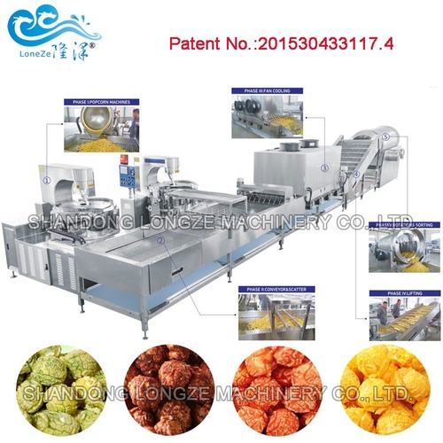 Industrial Caramel Popcorn Production Line