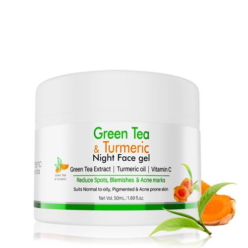 Volamena Green Tea & Turmeric Night Face Gel 50ml