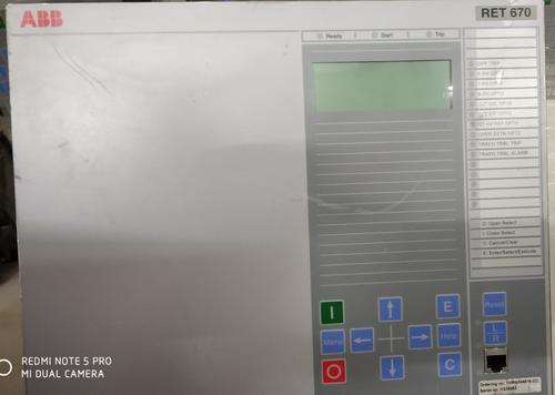 Abb Transformer Protection (Ret670)