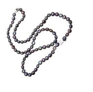 Cultured Black Pearl Necklace For Party Wear