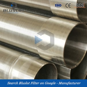 Stainless Steel Wire Johnson Filter Pipe Wrapped Water Well Screen