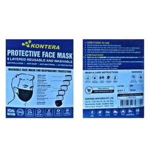 6 Layered Reusable And Washable Face Mask