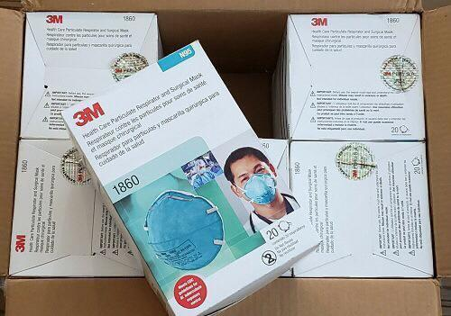 Blue Colored 3m 1860 Face Mask