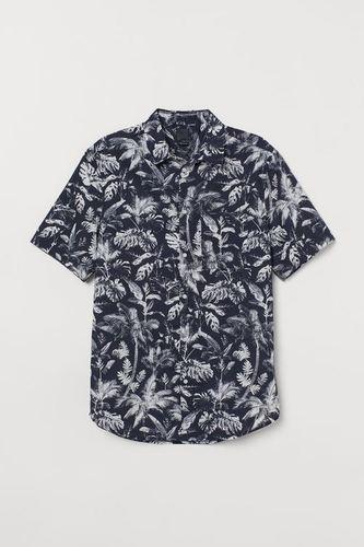 Male Linen Printed Shirt