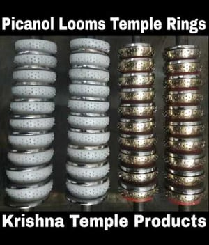 4 Row Temple Nylon and Brass Pinned Rings For Picanol Looms