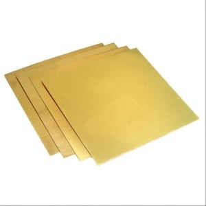 Polished Brass Square Plate