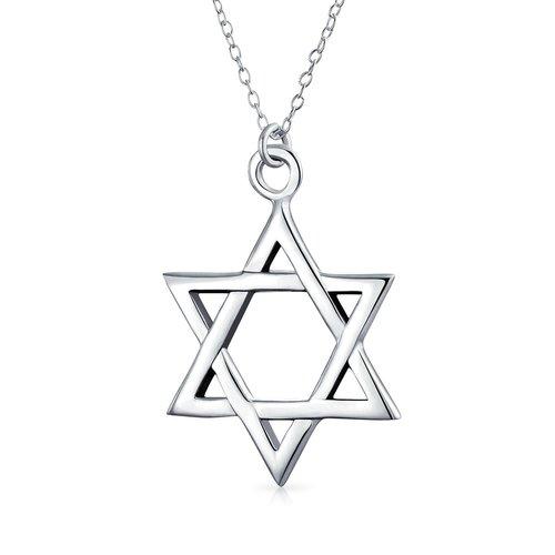 Sterling Silver Pendant Star Of David