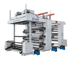 Belt Driving 6 Color Plastic And Paper Flexographic Printing Machine