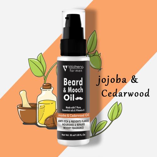Volamena Beard & Mooch Oil With Jojoba And Cedarwood Beard Oil 50ml