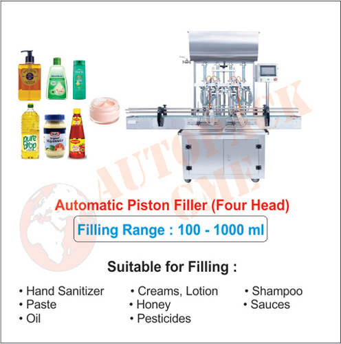 Automatic Hand Sanitizer Filling Machine (4 Head)