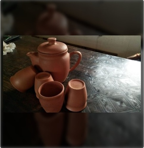 Red Clay Kettle With Kullad