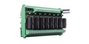 8 Channel Interface Relay Module 1 C/O 12 VDC Coil Voltage