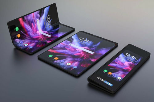 Black Samsung Galaxy Fold Mobilephone