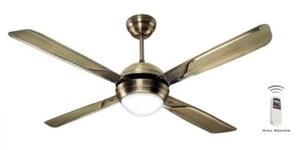 Avion Antique Brass Remote Controlled Ceiling Fan