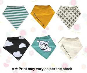 Colored Printed Baby Bibs