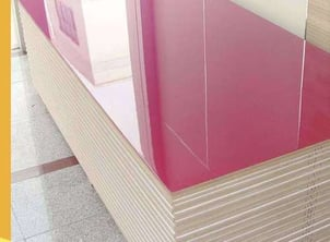 MDF Board 3 mm-25 mm Covered With Melamine Paper, UV Or Acrylic Composite Sheet