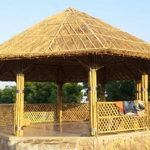 Natural Bamboo Roof Cottage