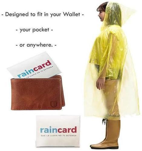 Reusable Plastic Pocket Rain Card Age Group: All