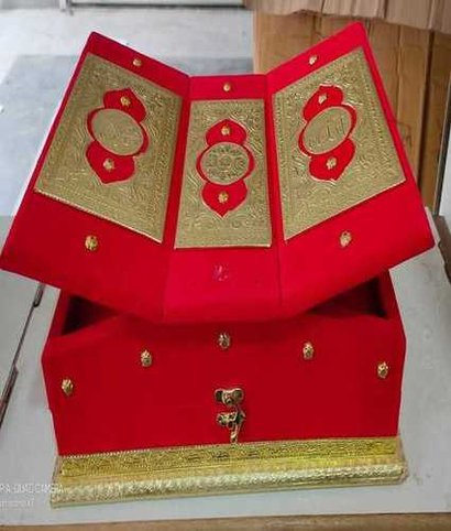 Nice Wooden Rehal Red Colour Quran Box