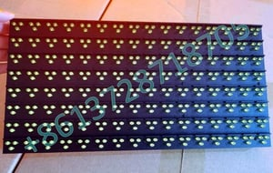 High Brightness Outdoor Traffic VMS Yellow Color LED Sign Module