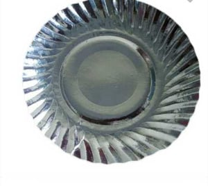 Silver Coated Disposable Paper Plates