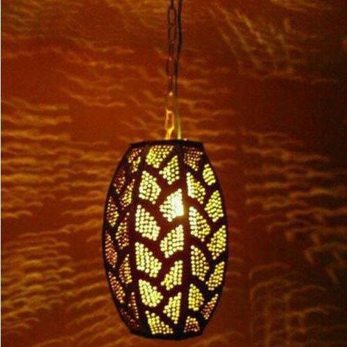 Brown Antique Fluorescent Hanging Lamp