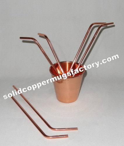 Designer Copper Drinking Straw