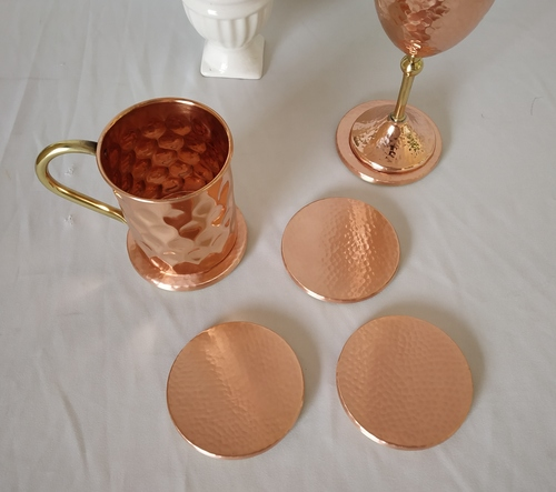 Round Shape Copper Coaster